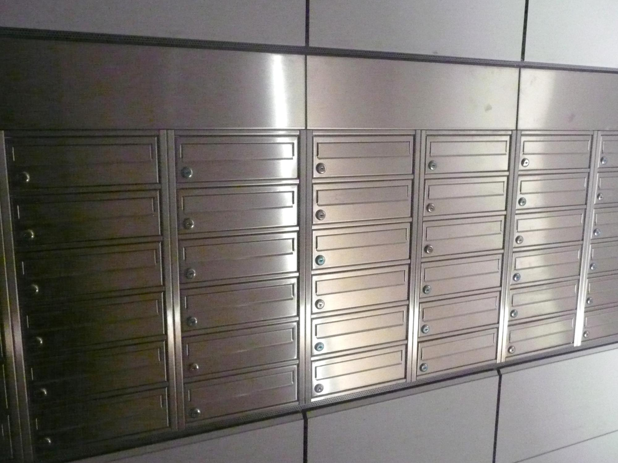 Nerezové poštové schránky