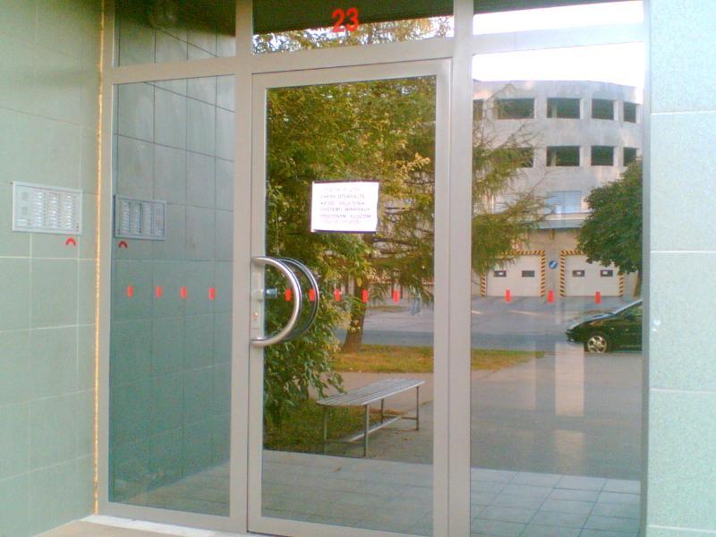 Kovové vchodové dvere so zrkadlovými kalenými sklami