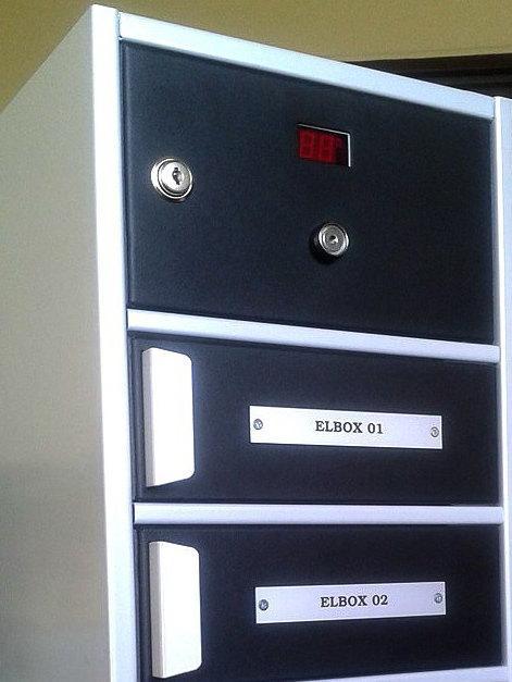 Elbox detail poštových schránok na čipový kľúč 3