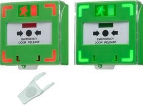Tlačidlo núdzového otvorenia so svetelnou a zvukovou signalizáciou