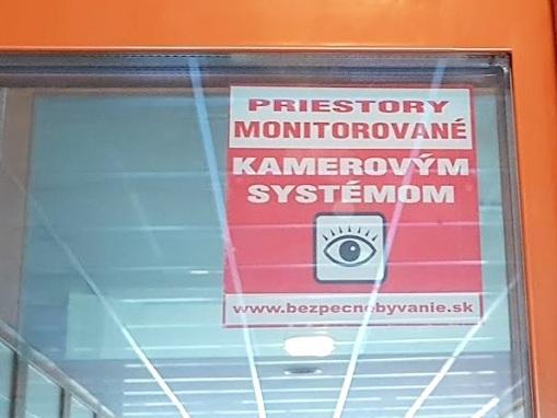 Oznam o monitorovaní